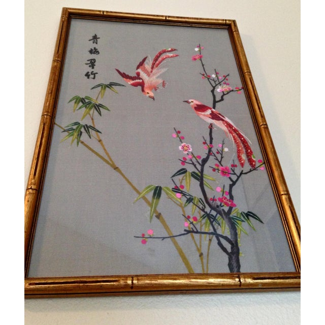 Silk Vintage Chinese Suzhou Embroidery For Sale - Image 7 of 7