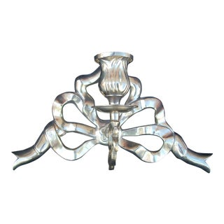 Brass Ribbon Candle Sconce For Sale