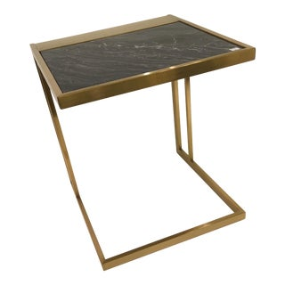 Contemporary Brass Finish Side Table