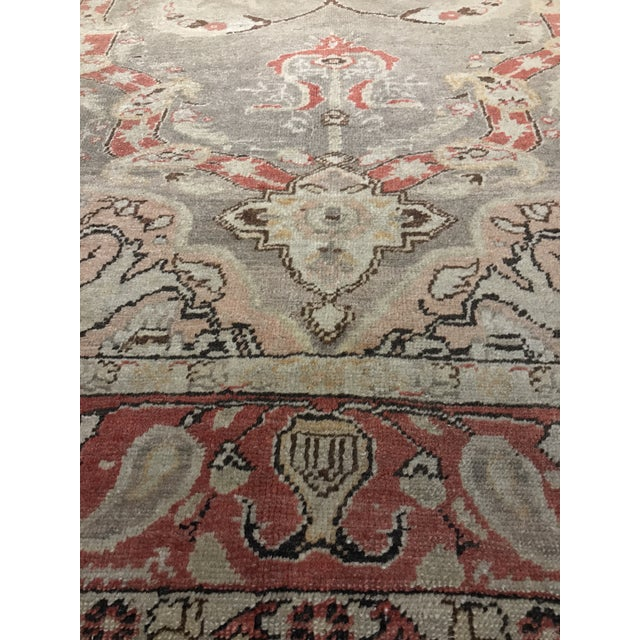 "Bellwether Rugs Antique Turkish Oushak Rug - 4'3""x6'2"" - Image 6 of 10"