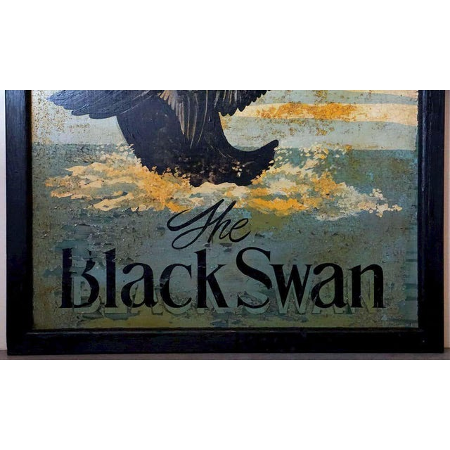 """Vintage English Pub Sign, """"The Black Swan"""" For Sale - Image 10 of 13"""