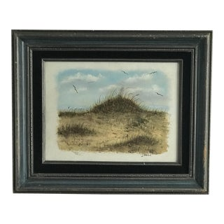 Vintage Dunes on the Cape Oil Painting For Sale