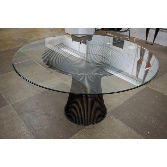 Bronze Warren Platner Dining Table for Knoll For Sale - Image 7 of 8