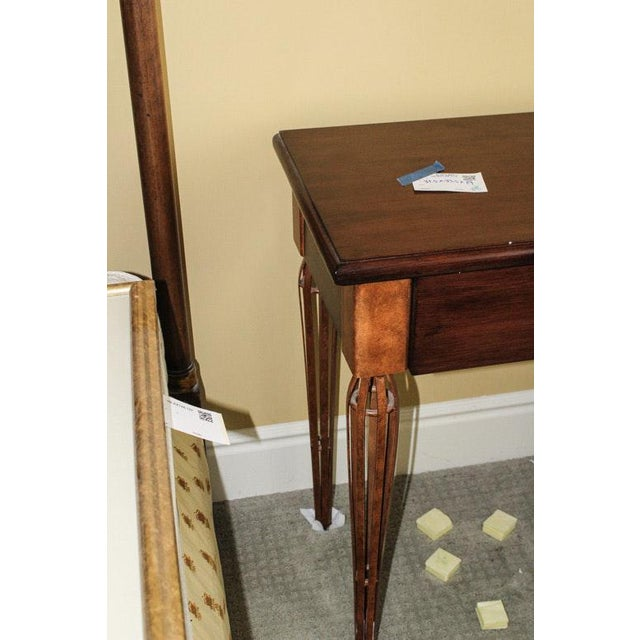 Cherry Wood Contemporary Wooden Night Stand Aka Single Drawer Side Table For Sale - Image 7 of 8