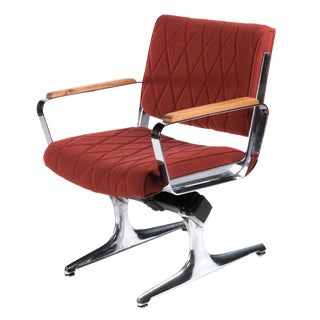 1970s Mid-Century Modern Chromcraft PDXoriginals Powell Ruby Diamond Accent Chair For Sale
