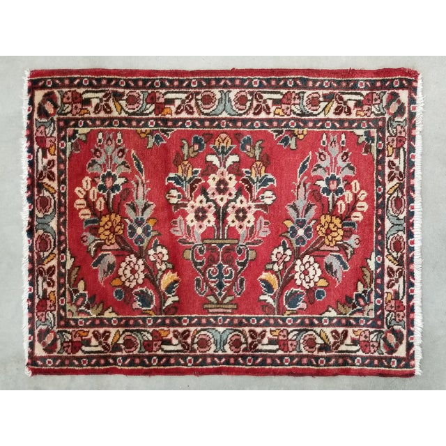 "1950s Vintage Lilihan Persian Rug- 2' 4"" X 3' For Sale - Image 9 of 9"