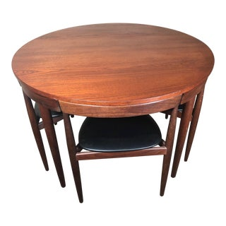 Mid-Century Modern Danish Teak Dining Set by Hans Olsen for Frem Rojle - Set of 5 For Sale