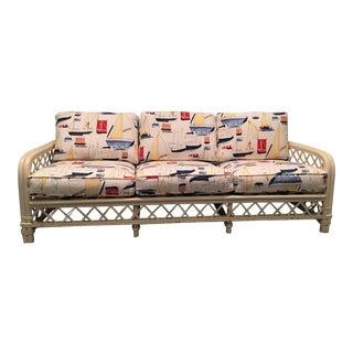 Ficks Reed Mid-Century Rattan Sofa
