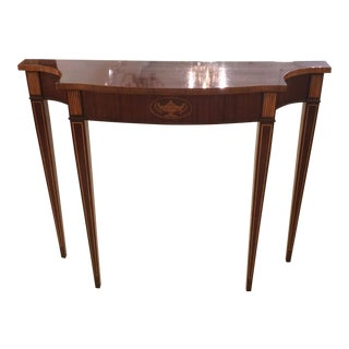 1970s Neoclassical/Federal Mahogany Narrow Console Table