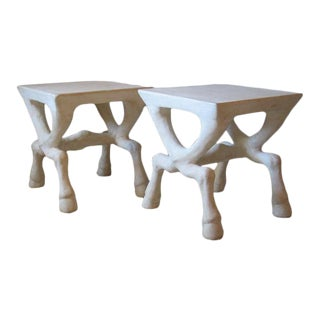 Figurative John Dickinson Style End Tables - a Pair