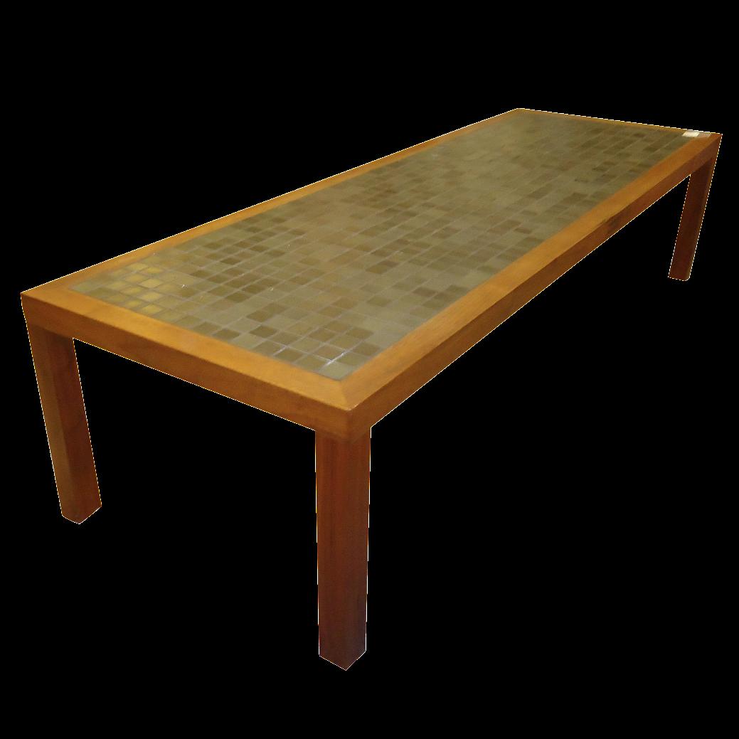 Merveilleux Mid Century Scan Design Teak/Tile Coffee Table For Sale