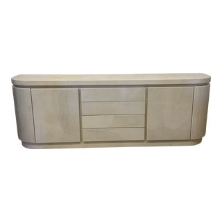 Monmumental Goatskin Lacquered Credenza For Sale