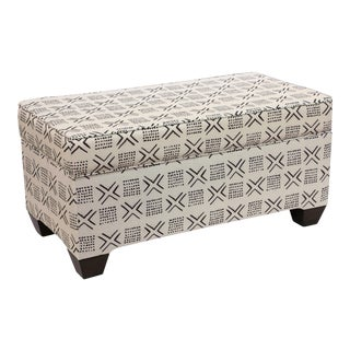 Remmy Cream Storage Bench
