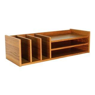 1960s Danish Modern Pedersen & Hansen Teak Desktop Organizer For Sale