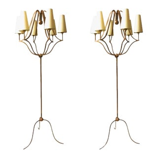 "Jean Royère Exceptional Pair of Standing Lamp Model ""Jacques"" For Sale"