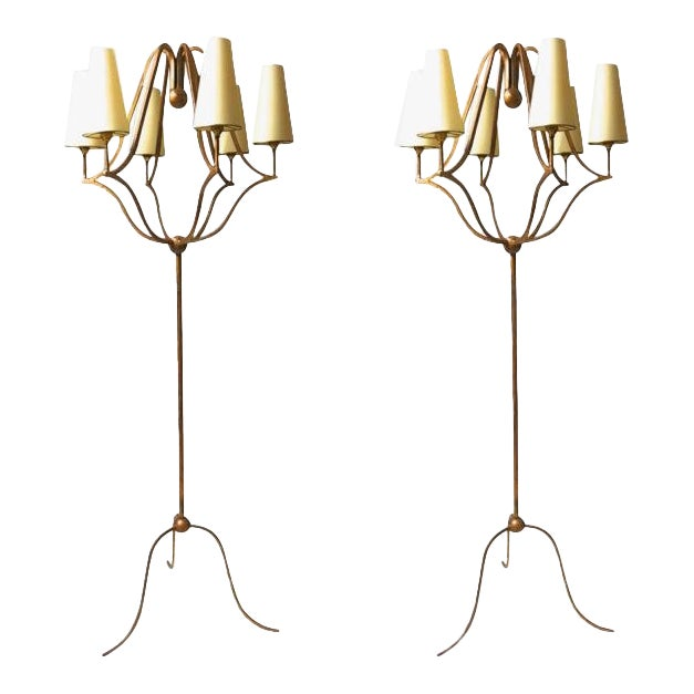 """Jean Royère Exceptional Pair of Standing Lamp Model """"Jacques"""" For Sale"""