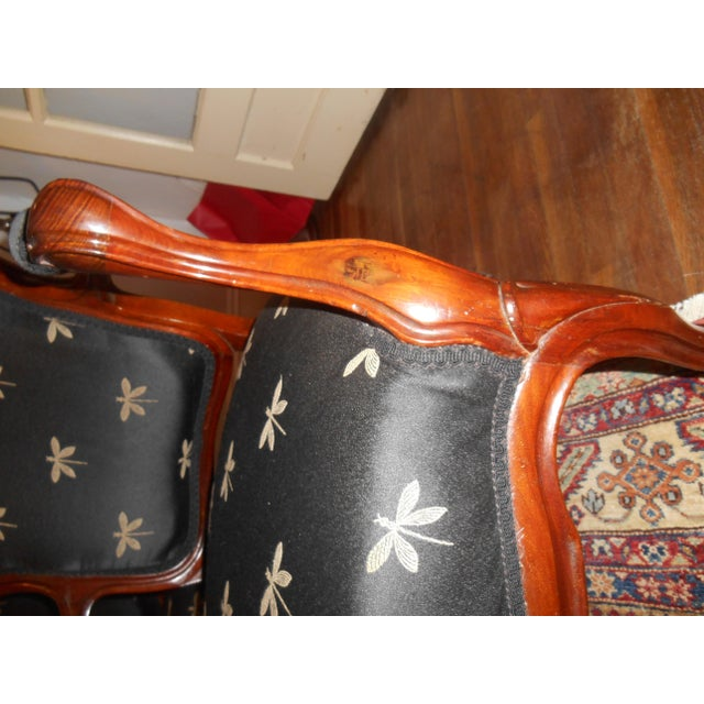 Louis XV Fauteuil Chairs - a Pair For Sale - Image 4 of 5