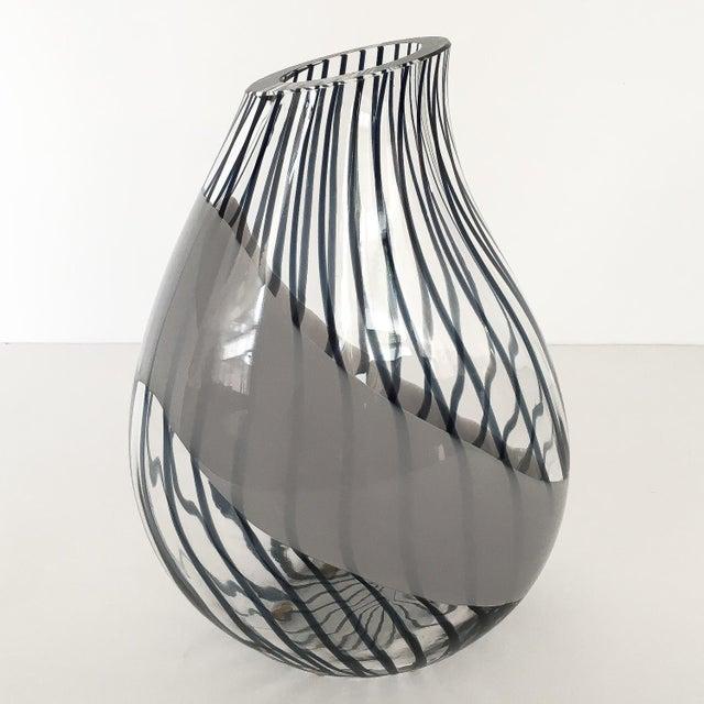 Art Glass Livio Seguso Striped Murano Art Glass Vase For Sale - Image 7 of 13