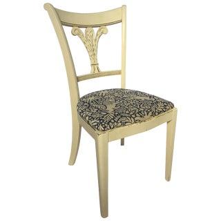 Mahogany Federal Style Fleur De Lis Plume Side Accent Chair For Sale