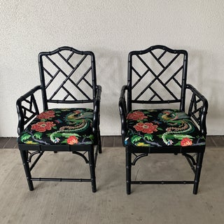 Black Bamboo Chairs- a Pair Preview