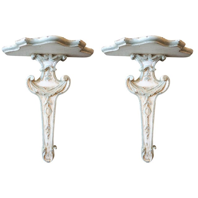 Pair of 18th Century Wall Brackets For Sale - Image 11 of 11
