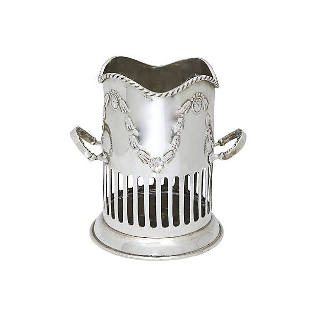 19th Century Antique English Silver-Plate Wine Caddy For Sale - Image 5 of 5