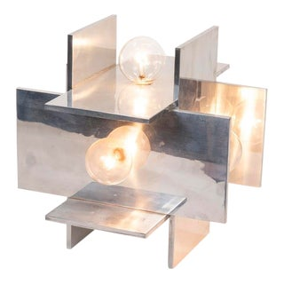 Aluminum Modernist Table Lamp For Sale