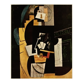 """1954 Pablo Picasso """"The Card Player"""", Period First Limited Edition Cubist Lithograph For Sale"""