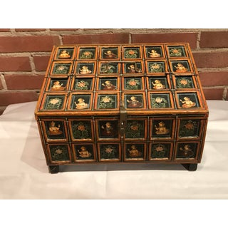 Vintage Folk Art Indian Hand Painted Box Preview