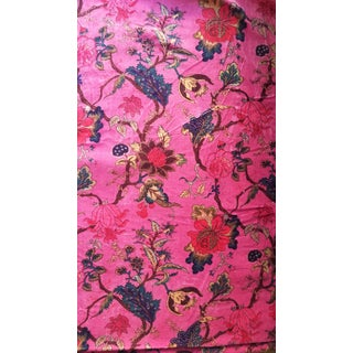 Cotton Velvet Chinoiserie Fabric- 10 Yards For Sale