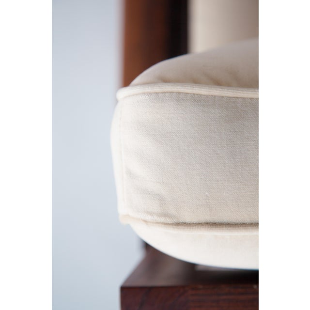 White 1970s Swedish Rosewood Sofa in the Style of Finn Juhl For Sale - Image 8 of 10