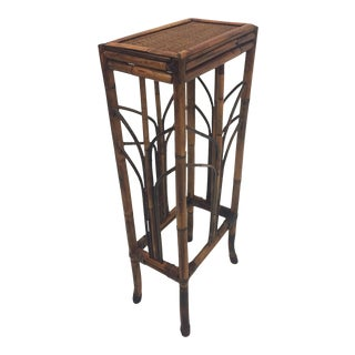Vintage Tall Bamboo Pedestal For Sale