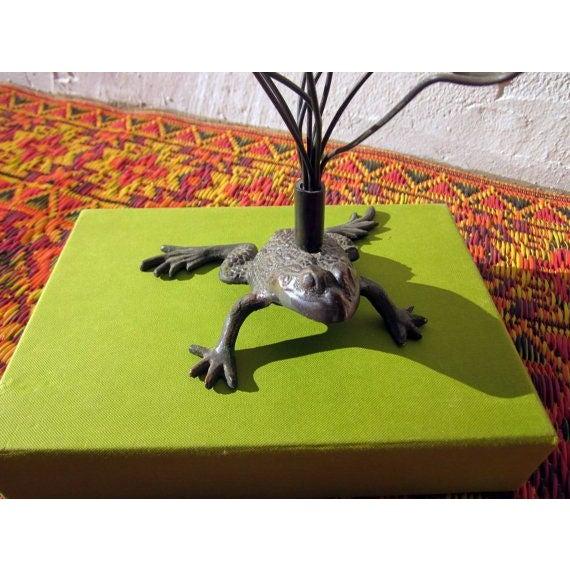 Vintage Hollywood Regency Brass Frog - Image 5 of 6