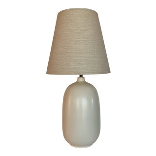 1960s Mid-Century Modern Bostlund Ceramic Lamp with Shade For Sale