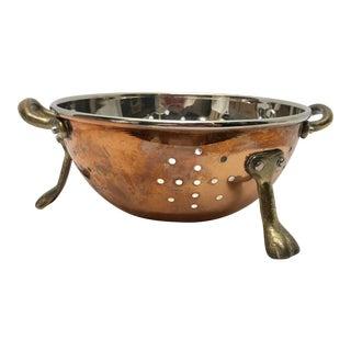 Vintage Copper Colander For Sale
