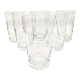 1930s Hand Etched Cocktail Tumblers, Set of 6 For Sale