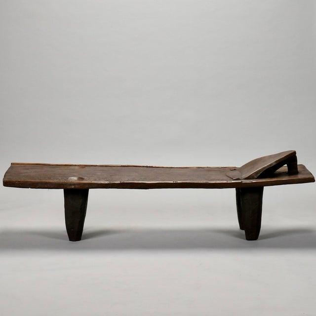 Ivory Coast Dark Wood Senufo Bench - Image 11 of 11