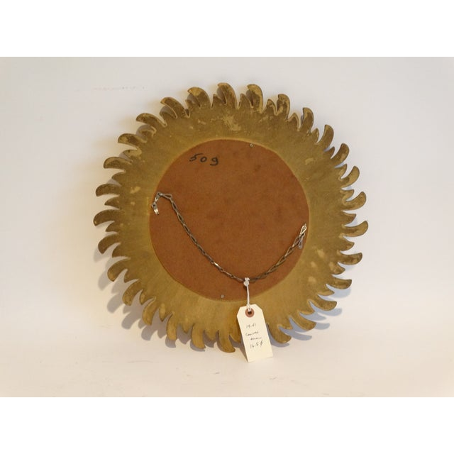 Wood French Gilt Sunburst Convex Mirror For Sale - Image 7 of 8