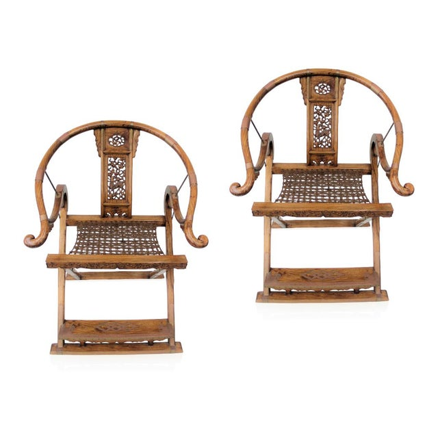 Rosewood Antique Chinese Qing Dynasty Armchairs - A Pair For Sale - Image 7 of 7
