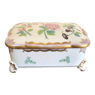 Herend Queen Victoria Porcelain Box For Sale
