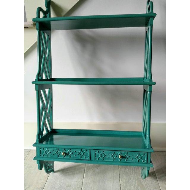 Chinese Chippendale Wall Shelf Chairish