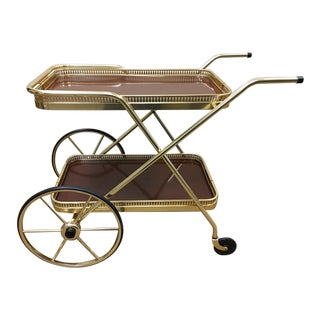 Mid-Century Kaymet London Serving Cart For Sale