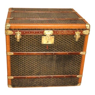 1930s Goyard Hat Trunk For Sale