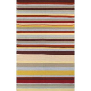 Anatolian Hand-Woven Cotton Rug - 5' X 8' For Sale