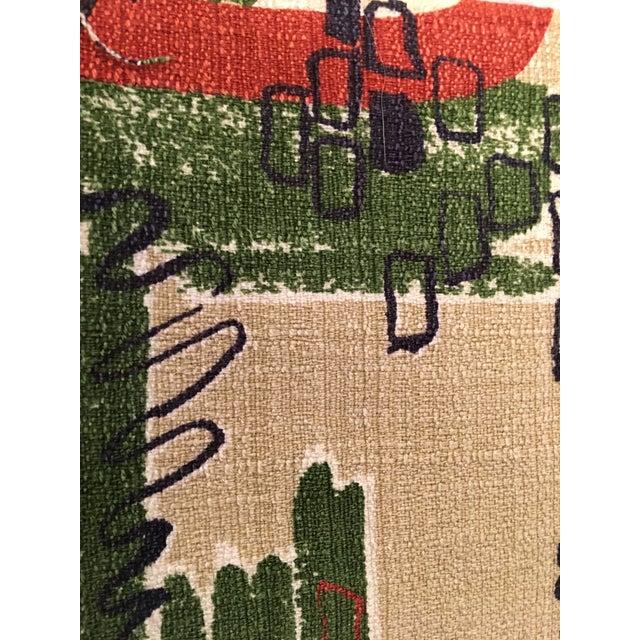 1950s Vintage Mid Century Modern Yardage Fabric- 11 Yds For Sale - Image 5 of 6