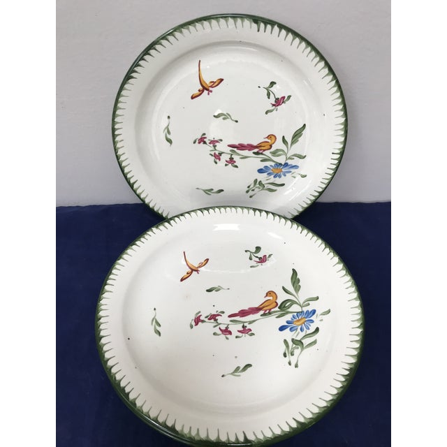 French Vintage French Faience Hand Painted Plates - Set of 6 For Sale - Image 3 of 7