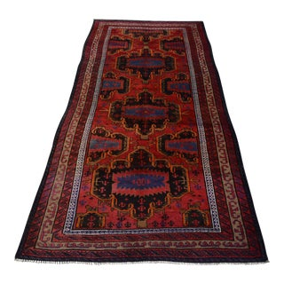"""Antique Persian Hand Knotted Rug - 4'4"""" x 9'5"""""""