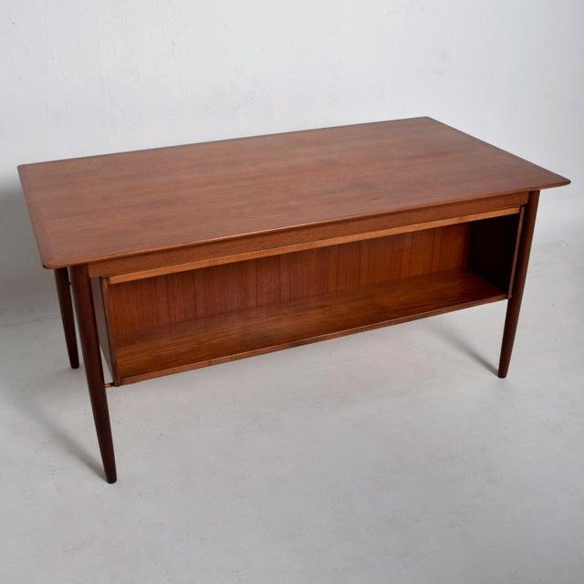 Mid-Century Danish Modern Koford Larsen Era Teak Receiving Desk Bookshelf For Sale - Image 9 of 11