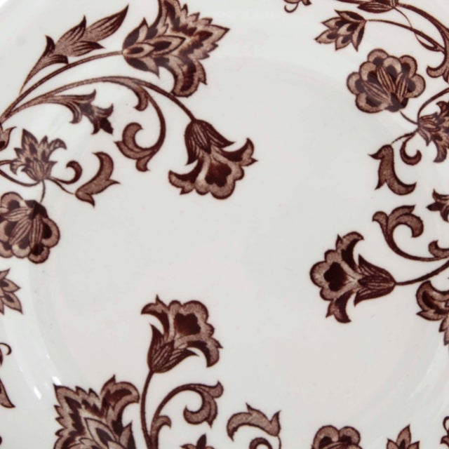 """Royal Staffordshire """"Windsong"""" Ironstone plate marked on verso """"J&G Meakin England 7"""" plate with scalloped edges and en..."""