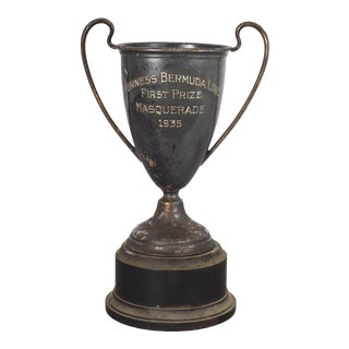 Antique Silver Plated 1st Place Trophy C.1935 For Sale